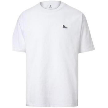 Υφασμάτινα Άνδρας T-shirt με κοντά μανίκια Converse Chuck Taylor Shoe Patch άσπρο