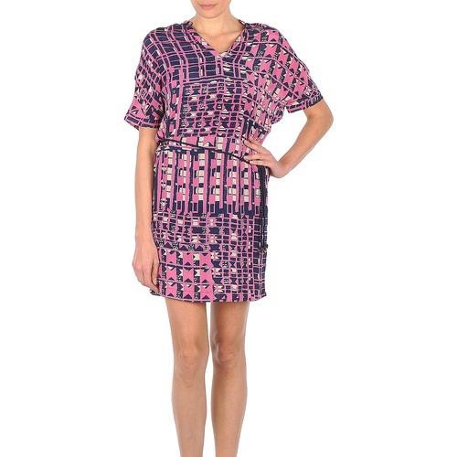 Υφασμάτινα Γυναίκα Κοντά Φορέματα Stella Forest YRO059 Marine / Ροζ