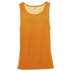 Υφασμάτινα Άνδρας Αμάνικα / T-shirts χωρίς μανίκια Sols Jamaica camiseta sin mangas Naranja