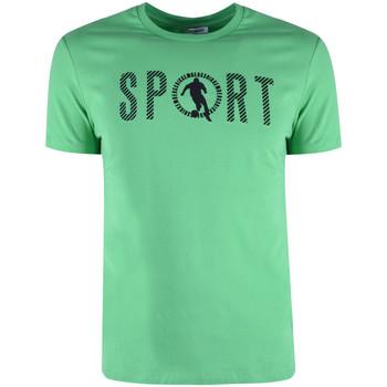 Υφασμάτινα Άνδρας T-shirt με κοντά μανίκια Bikkembergs  Green