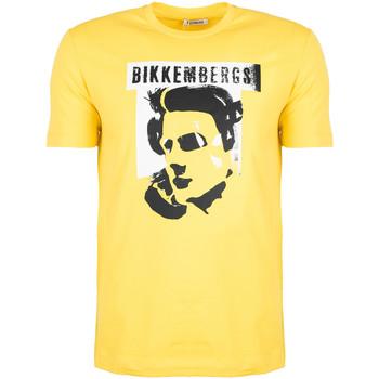 Υφασμάτινα Άνδρας T-shirt με κοντά μανίκια Bikkembergs  Yellow