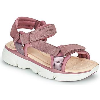 Παπούτσια Κορίτσι Σανδάλια / Πέδιλα Geox J SANDAL LUNARE GIRL Ροζ