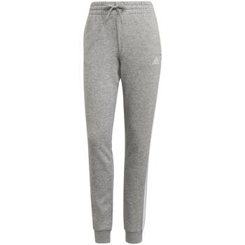 Υφασμάτινα Γυναίκα Φόρμες adidas Originals Pantalon femme  Essentials French Terry 3-Bandes gris chiné/blanc
