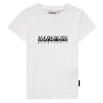 Υφασμάτινα Αγόρι T-shirt με κοντά μανίκια Napapijri S-BOX SS Άσπρο