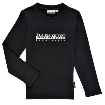 Υφασμάτινα Αγόρι Μπλουζάκια με μακριά μανίκια Napapijri S-BOX LS Black