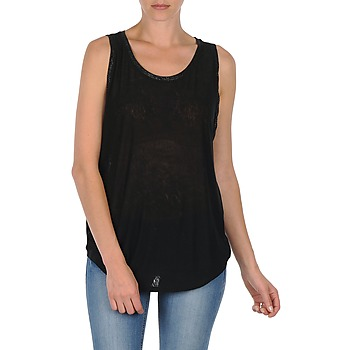 Υφασμάτινα Γυναίκα Αμάνικα / T-shirts χωρίς μανίκια Majestic MANON Black