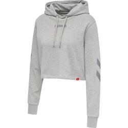 Υφασμάτινα Γυναίκα Φούτερ Hummel Sweatshirt à capuche femme  hmlLEGACY cropped gris