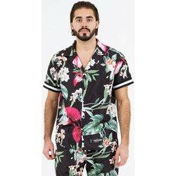 Υφασμάτινα Άνδρας Πουκάμισα με κοντά μανίκια Sixth June Chemise  tropical noir