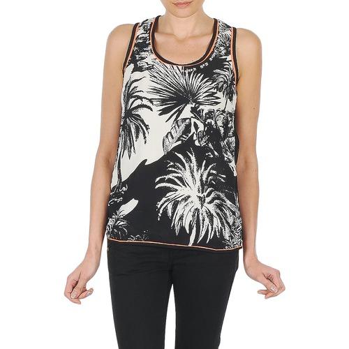 Υφασμάτινα Γυναίκα Αμάνικα / T-shirts χωρίς μανίκια Derhy EDEN Black / Άσπρο