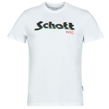 Υφασμάτινα Άνδρας T-shirt με κοντά μανίκια Schott TSLOGOELEK Άσπρο