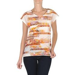 Υφασμάτινα Γυναίκα T-shirt με κοντά μανίκια TBS JINTEE άσπρο