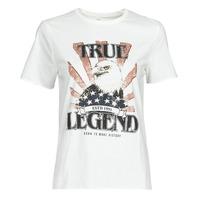 Υφασμάτινα Γυναίκα T-shirt με κοντά μανίκια Only ONLLUCY Άσπρο