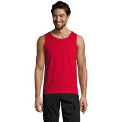 Υφασμάτινα Άνδρας Αμάνικα / T-shirts χωρίς μανίκια Sols Justin camiseta sin mangas Rojo