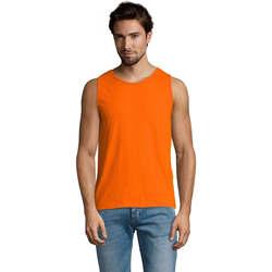 Υφασμάτινα Άνδρας Αμάνικα / T-shirts χωρίς μανίκια Sols Justin camiseta sin mangas Naranja
