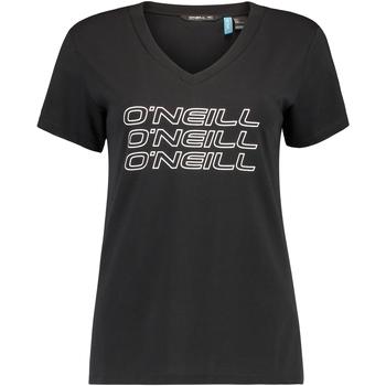 Υφασμάτινα Γυναίκα T-shirt με κοντά μανίκια O'neill Triple Stack Μαύρος