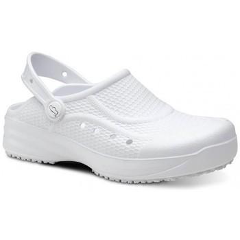 Παπούτσια Άνδρας Σαμπό Feliz Caminar Zueco Laboral Flotantes Evolution - Άσπρο