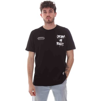 Υφασμάτινα Άνδρας T-shirt με κοντά μανίκια Disclaimer 21EDS50587 Μαύρος