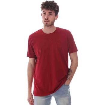 Υφασμάτινα Άνδρας T-shirt με κοντά μανίκια Key Up 2M915 0001 το κόκκινο