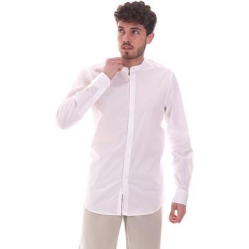 Υφασμάτινα Άνδρας Πουκάμισα με μακριά μανίκια Sseinse CE639SS λευκό