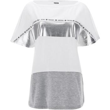 Υφασμάτινα Γυναίκα T-shirt με κοντά μανίκια Freddy S1WSDT2M λευκό
