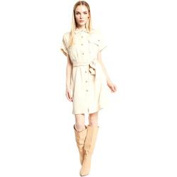 Υφασμάτινα Γυναίκα Κοντά Φορέματα Gaudi 111FD15011 Μπεζ