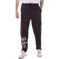 Υφασμάτινα Άνδρας παντελόνι παραλλαγής Disclaimer 21EDS50560 Μαύρος