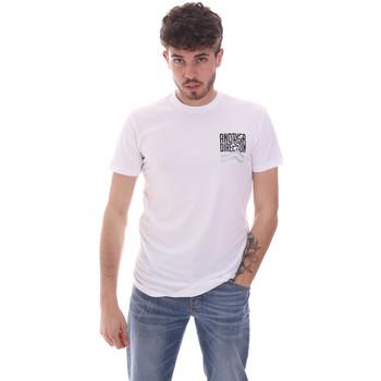 Υφασμάτινα Άνδρας T-shirt με κοντά μανίκια Antony Morato MMKS01993 FA120001 λευκό