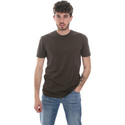 Υφασμάτινα Άνδρας Μπλουζάκια με μακριά μανίκια Antony Morato MMKS01855 FA120022 Πράσινος