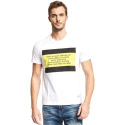 Υφασμάτινα Άνδρας T-shirt με κοντά μανίκια Gaudi 111GU64071 λευκό