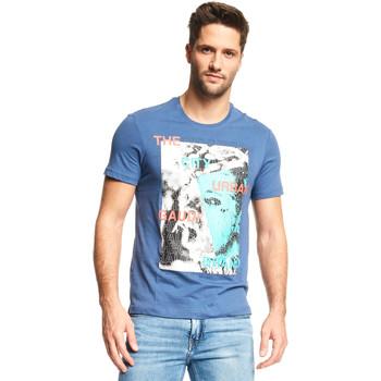 Υφασμάτινα Άνδρας T-shirt με κοντά μανίκια Gaudi 111GU64073 Μπλε