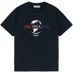 Υφασμάτινα Άνδρας T-shirt με κοντά μανίκια Trussardi 52T00443-1T005227 Μαύρος