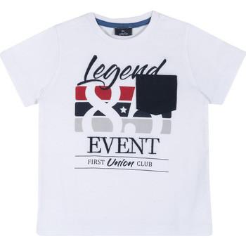 Υφασμάτινα Παιδί T-shirt με κοντά μανίκια Chicco 09067252000000 λευκό