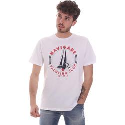Υφασμάτινα Άνδρας T-shirt με κοντά μανίκια Navigare NV31113 λευκό