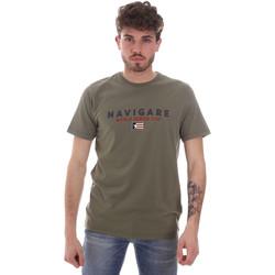 Υφασμάτινα Άνδρας T-shirt με κοντά μανίκια Navigare NV31139 Πράσινος