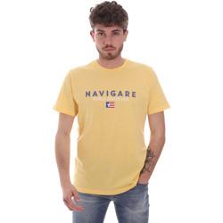 Υφασμάτινα Άνδρας T-shirt με κοντά μανίκια Navigare NV31139 Κίτρινος