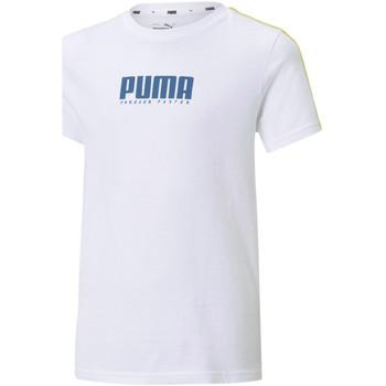 Υφασμάτινα Παιδί T-shirt με κοντά μανίκια Puma 585899 λευκό