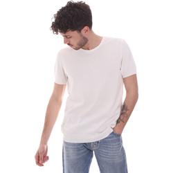Υφασμάτινα Άνδρας T-shirt με κοντά μανίκια Gaudi 111GU53004 λευκό