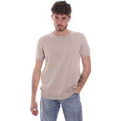 Υφασμάτινα Άνδρας T-shirt με κοντά μανίκια Gaudi 111GU53004 Μπεζ