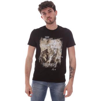 Υφασμάτινα Άνδρας T-shirt με κοντά μανίκια Gaudi 111GU64091 Μαύρος