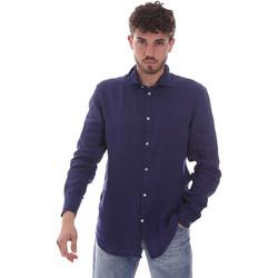 Υφασμάτινα Άνδρας Πουκάμισα με μακριά μανίκια Gaudi 111GU45005 Μπλε