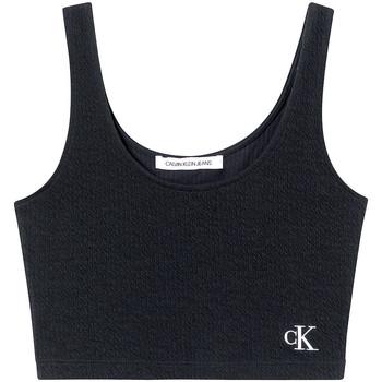 Υφασμάτινα Γυναίκα Αμάνικα / T-shirts χωρίς μανίκια Calvin Klein Jeans J20J215703 Μαύρος