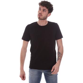 Υφασμάτινα Άνδρας T-shirt με κοντά μανίκια Gaudi 111GU64048 Μαύρος