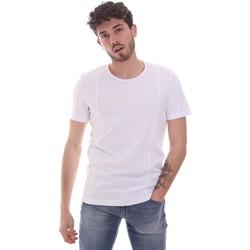Υφασμάτινα Άνδρας T-shirt με κοντά μανίκια Gaudi 111GU64048 λευκό