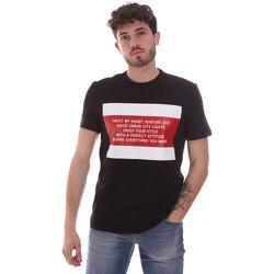 Υφασμάτινα Άνδρας T-shirt με κοντά μανίκια Gaudi 111GU64071 Μαύρος