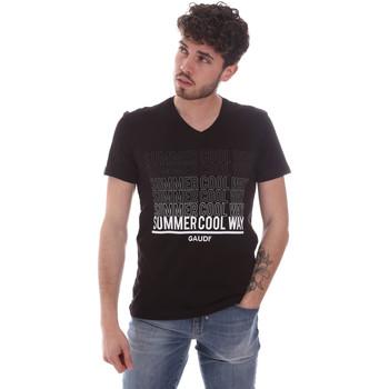 Υφασμάτινα Άνδρας T-shirt με κοντά μανίκια Gaudi 111GU64069 Μαύρος