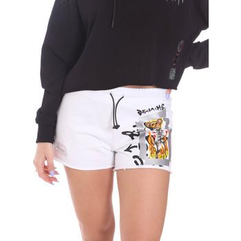 Υφασμάτινα Γυναίκα Σόρτς / Βερμούδες Disclaimer 21EDS50650 λευκό