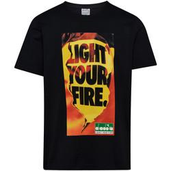 Υφασμάτινα Άνδρας T-shirt με κοντά μανίκια Diadora 502175837 Μαύρος