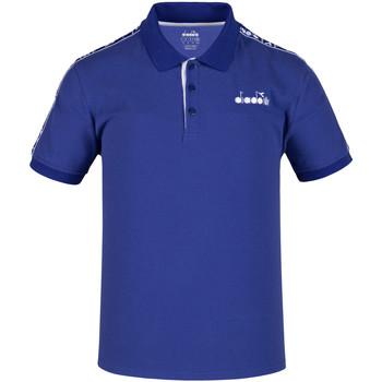 Υφασμάτινα Άνδρας Πόλο με κοντά μανίκια  Diadora 102175672 Μπλε