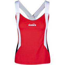 Υφασμάτινα Γυναίκα Αμάνικα / T-shirts χωρίς μανίκια Diadora 102175658 το κόκκινο