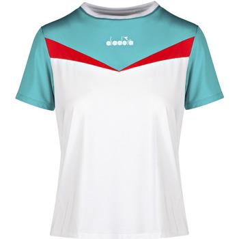 Υφασμάτινα Γυναίκα T-shirt με κοντά μανίκια Diadora 102175659 λευκό